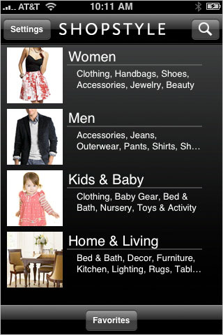 The PopSugar app, formerly known as ShopStyle...one of my favorites.
