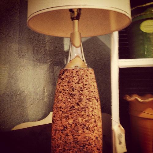 Cork lamp at Summer House Marketplace
