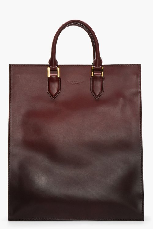 Cloption tote in delectable thick ombre calf