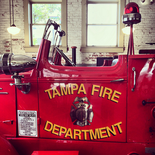 TFD parade engine at the Tampa Firefighters Museum