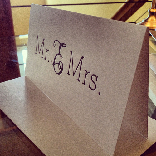 Sugar Paper LA Wedding Card