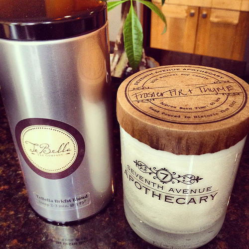 The Frasier Fir & Thyme candle by Seventh Avenue Apothecary smells fab