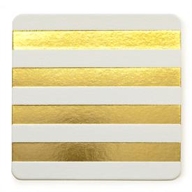 Sugar Paper Gold stripe Cabana coasters