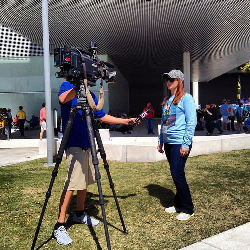 GFA Board Treasurer Sarah Joubert gives an interview to Fox 13 News