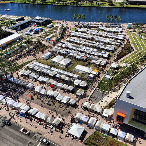 Aerial view of the 2014 GFA in Curtis Hixon Park, Downtown Tampa