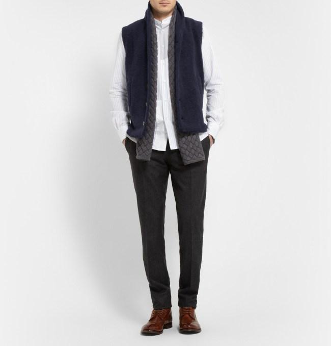 Barena textured wool vest/gilet from MR PORTER