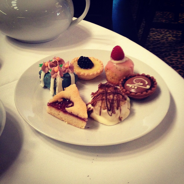Tea sweets at Gryphon