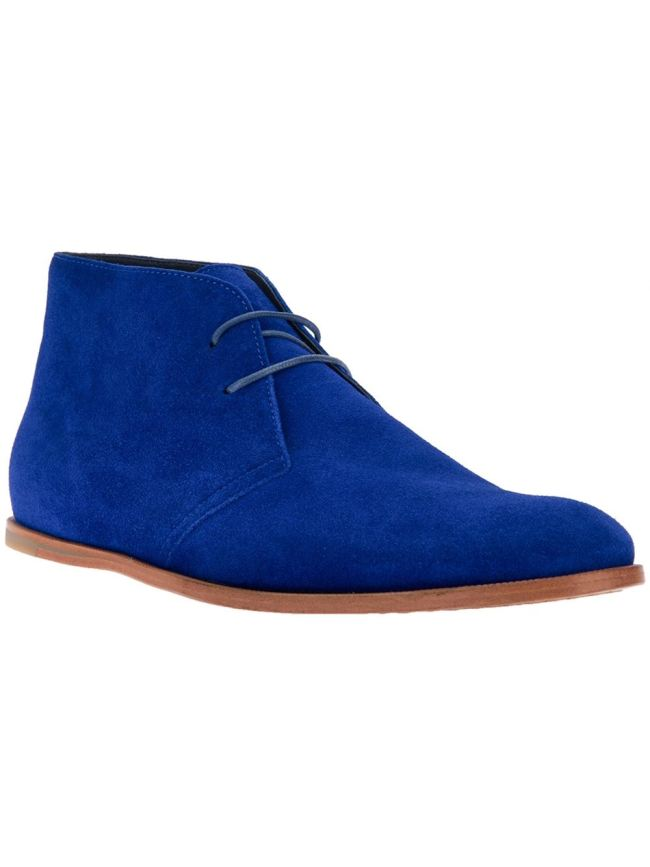 OC M1 Desert Boots at Farfetch in royal blue
