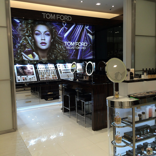 Tom Ford full-line beauty (color & fragrance) hard vendors, at Saks Sarasota