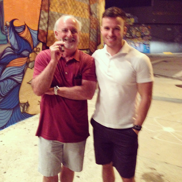 Dad & I in front of the Wynwood Kitchen & Bar