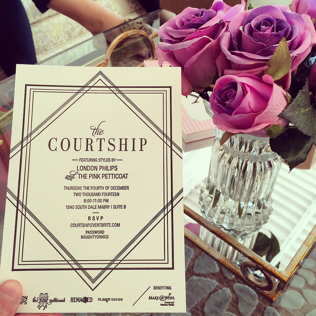 The Courtship invitation, by Maggie Sage Design & letterpress