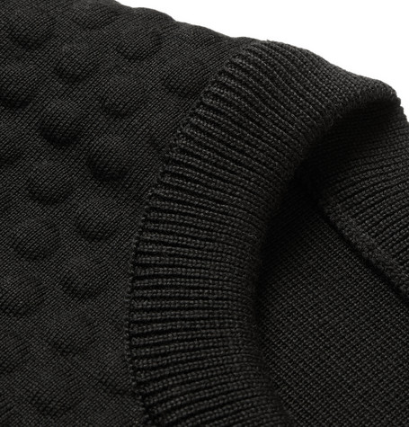 Jil Sander's bubble-knit wool in sweater form