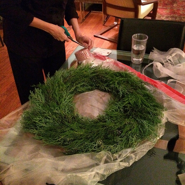 Live wreath by Lindsey Easton of Riverview, FL