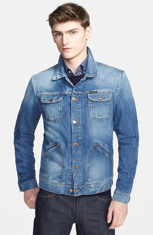 Michael Bastian washed denim jacket