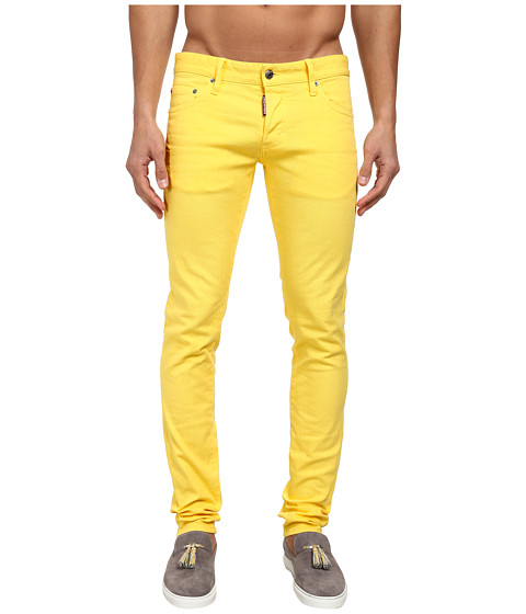 Dsquared2 Slim Garment-Dyed Jeans in Canary Yellow