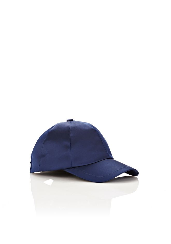Alexander Wang blue satin baseball cap