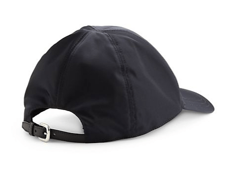 Prada nylon baseball cap in black, at Saks Fifth Avenue