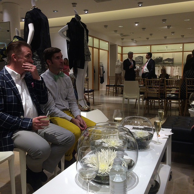Two of the very few men in our audience for The Art of Fashion at Neiman Marcus Tampa Bay