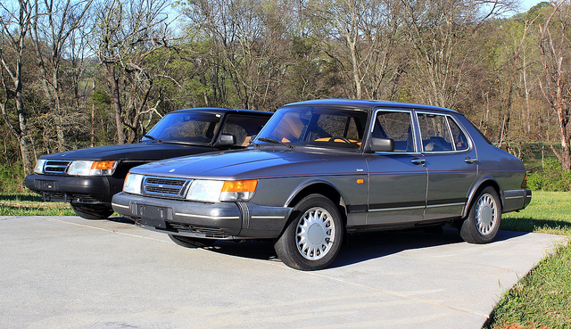 The 1980s Saab 900, a yuppie staple in its time, by Patrick Rosenbalm on Flickr