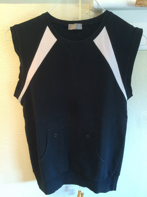 Dior Homme sleeveless sweatshirt, size small, purchased at a consignment store in San Francisco