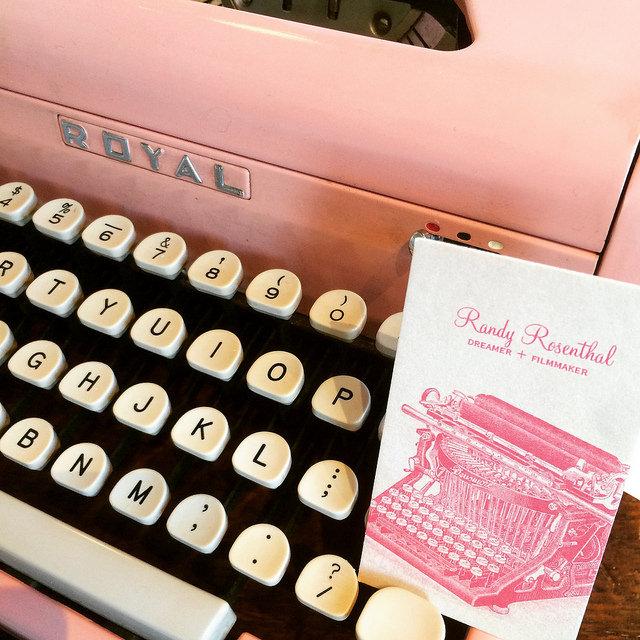 Royal pink typewriter from Tampa Type