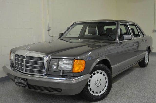 A pristine example of the 1991 Mercedes 560SEL, the top of the line at that time