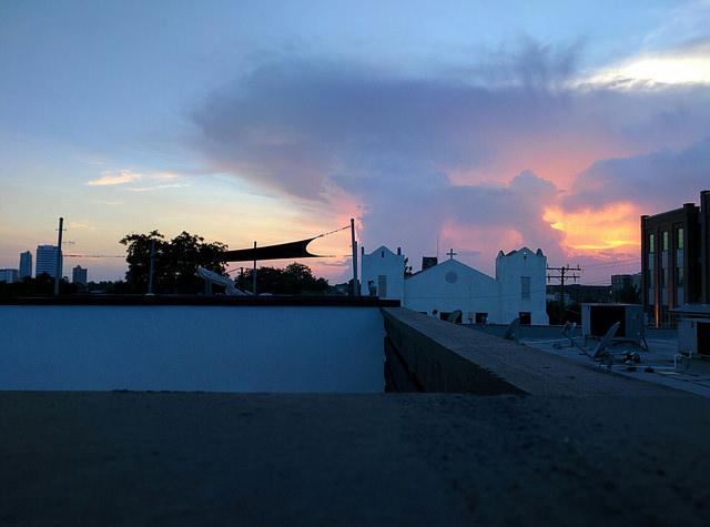 A sunset over Ybor City