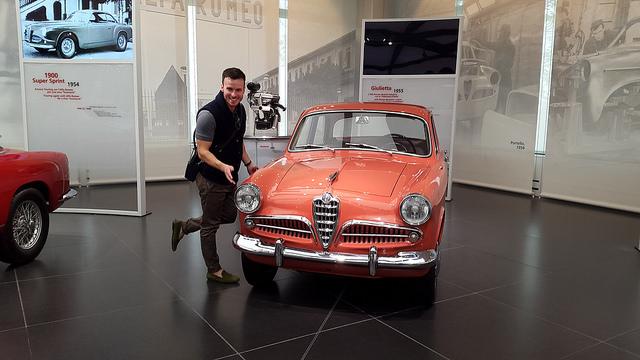 1955 Alfa Romeo Giulietta in coral