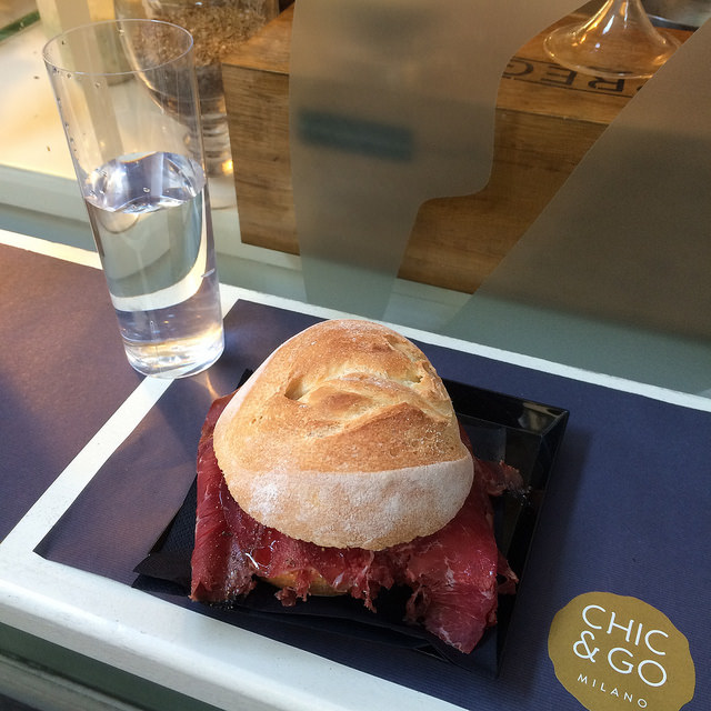 The bresaola, goat cheese, olive oil, and lemon juice is pretty awesome