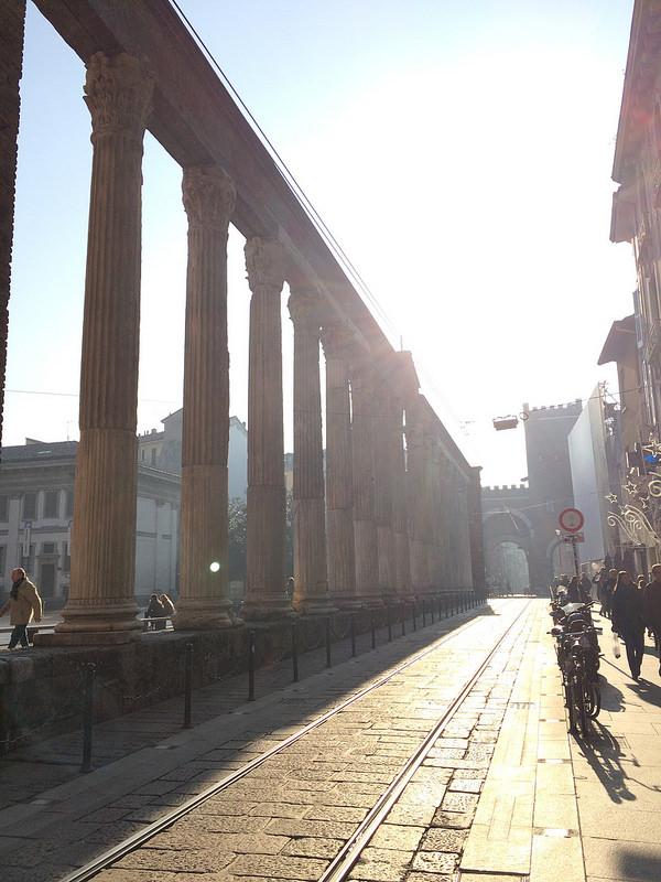 Colonne di San Lorenzo, along the #3 tram line