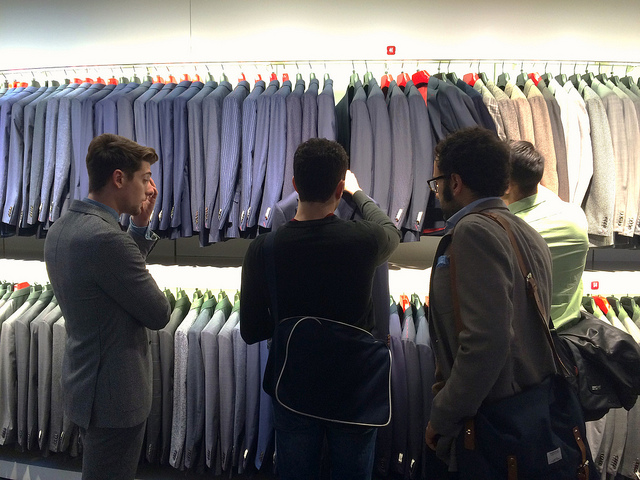 Shopping at Suitsupply