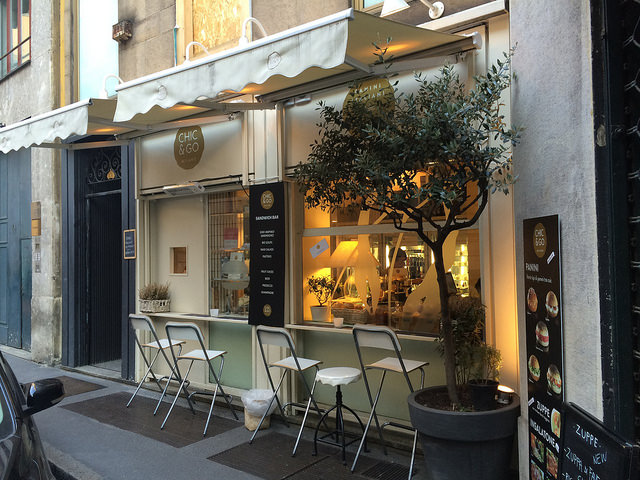 One of my favorite spots for a chic lunch - Chic & Go Panini stand on Via Bigli
