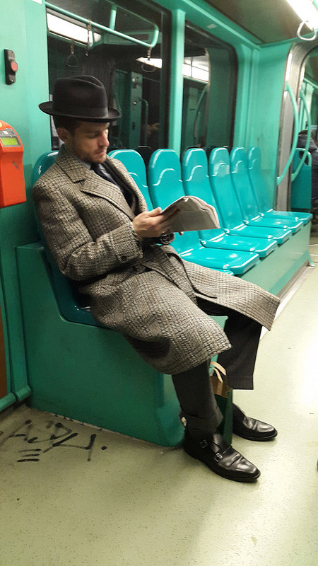 This is the best-dressed person I have ever seen in Milan, or at the least, on the tram.
