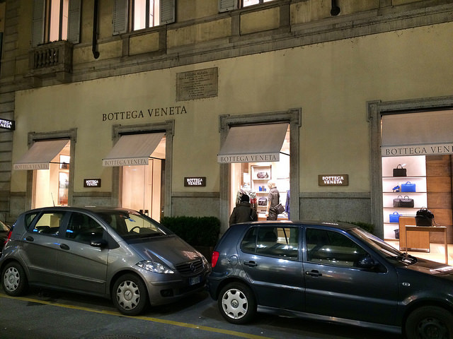 Bottega Veneta Men's Maison on Via Sant'Andrea, Milano