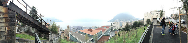 Top of cardio course in Lugano - a lonnnnng staircase