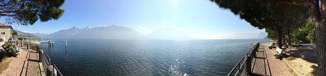 Panorama of Lake Como from Acquaseria shore