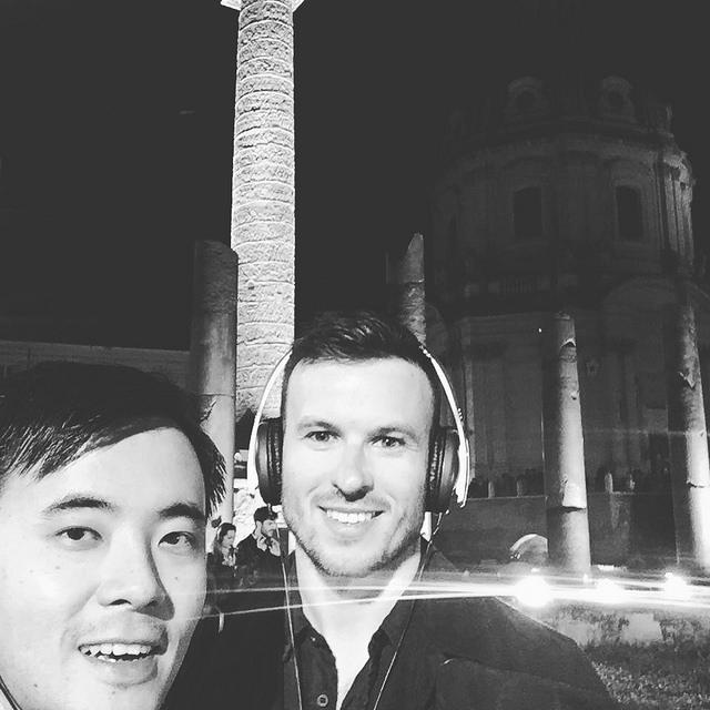 On the nighttime Foro Romano tour
