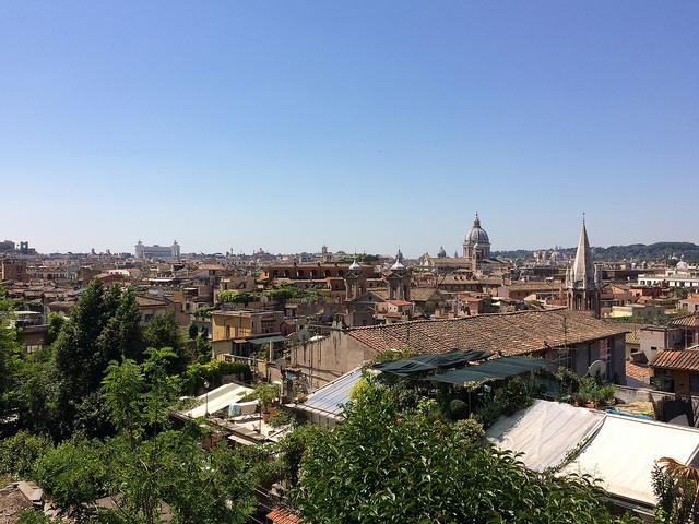 Rome from the Passeggiata del Pincio