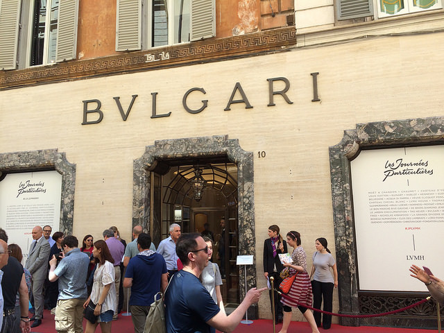 Bvlgari's historic Via Condotti boutique