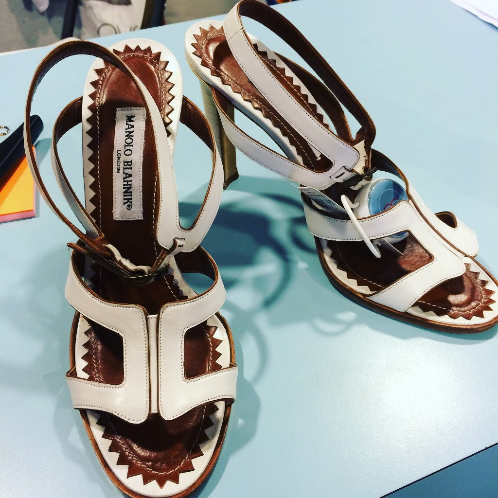Manolo Blahnik sandals at Bivio Milano