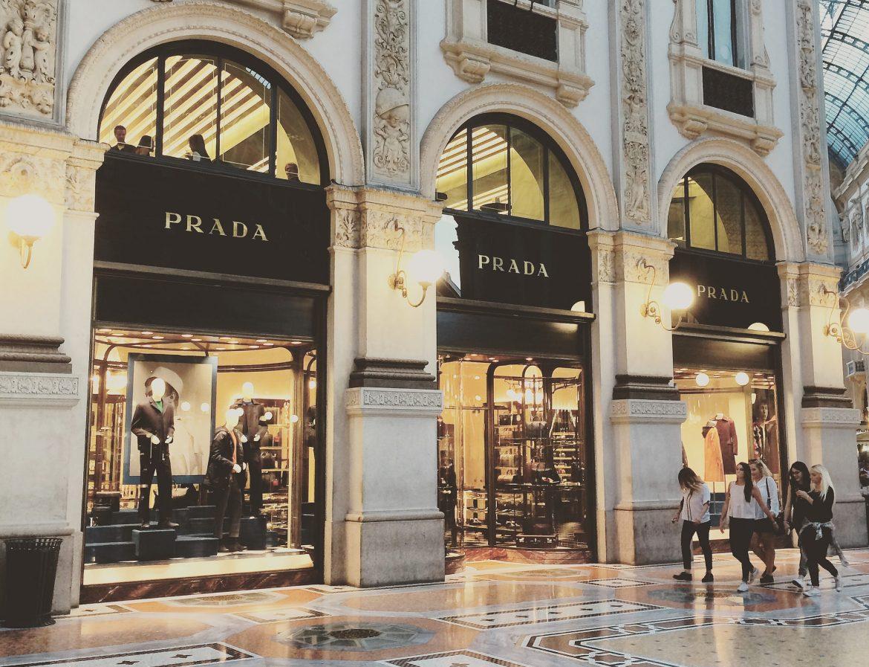 Prada and Marchesi in Galleria Vittorio Emanuele II