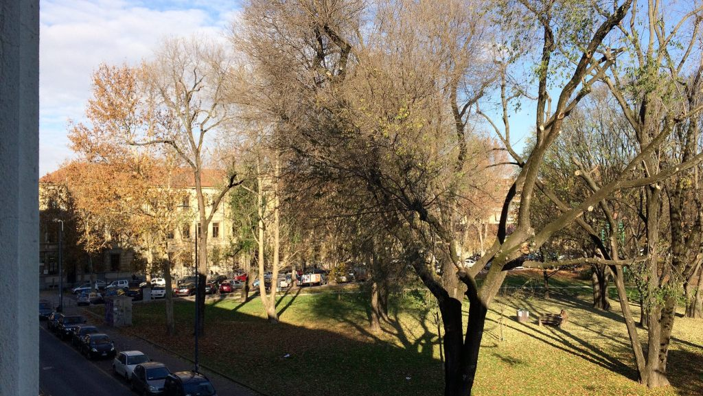 View out from the first floor of SDA Bocconi