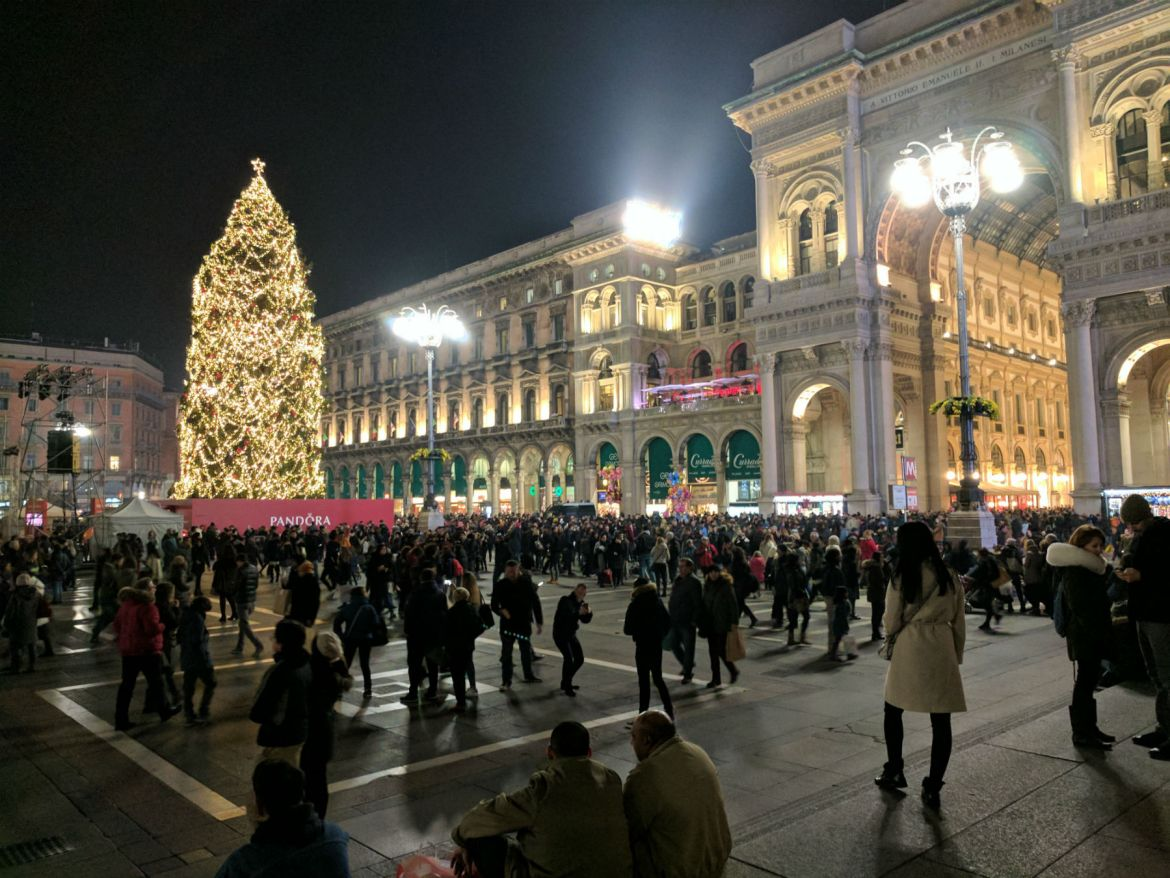 Christmas in Milan's Piazza Duomo