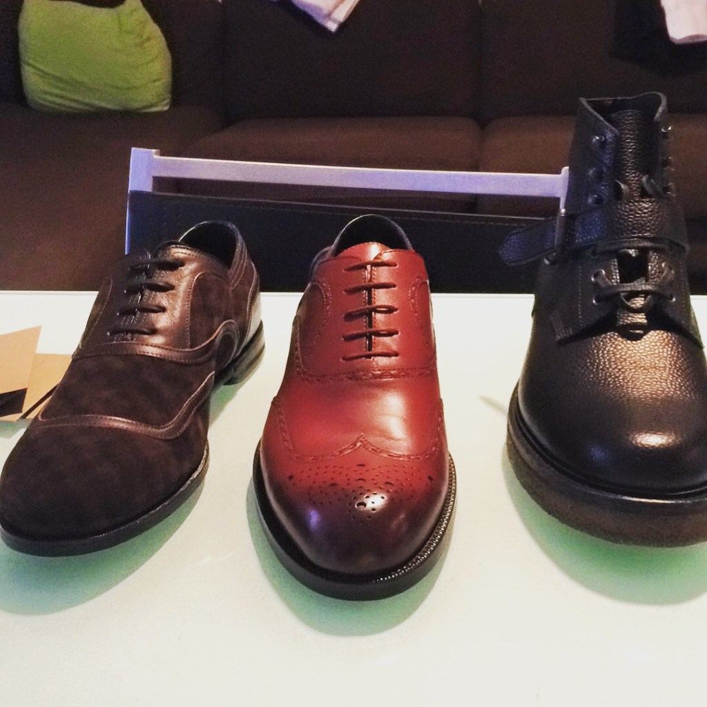 On the right, along with two other purchases from Bottega Veneta sale in Milan