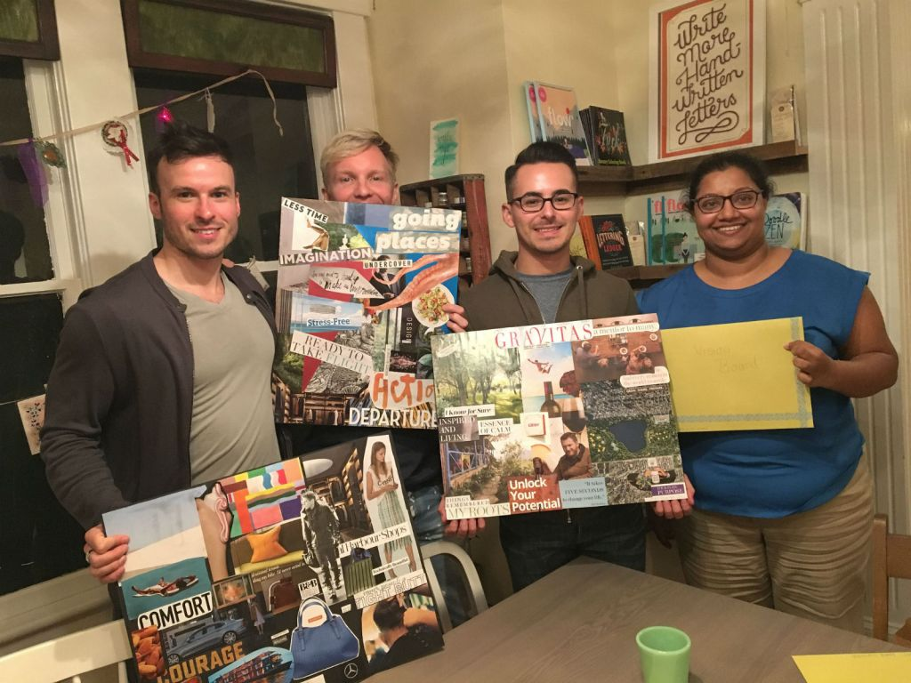 Vision Board class at The Paper Seahorse
