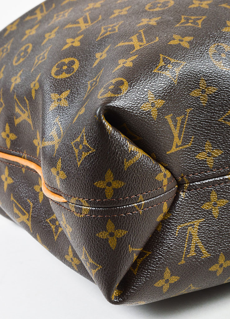 Louis Vuitton monogram canvas, credit to Luxury Garage Sale