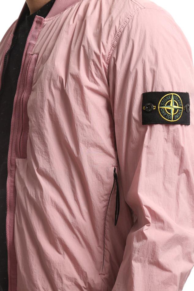 Stone Island pink crinkled nylon windbreaker, SS17