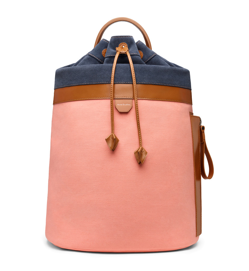 Acne Studios canvas drawstring bucket bag