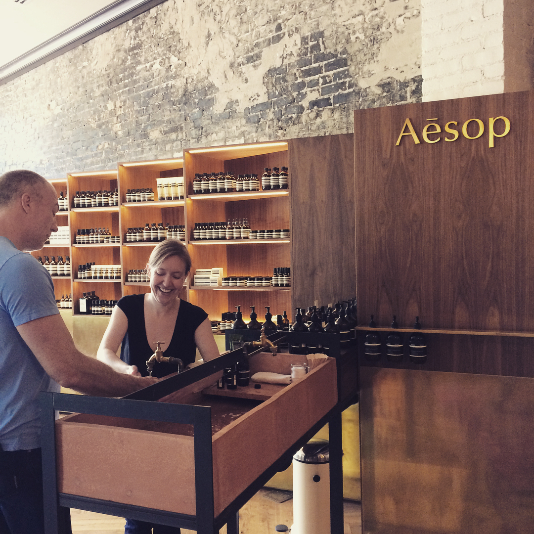 the former Aesop counter in Tampa at the Oxford Exchange