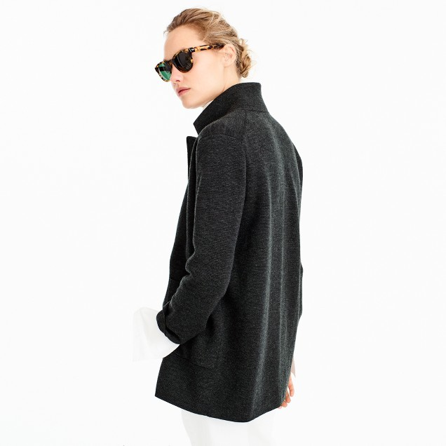 J.Crew 100% merino wool sweater blazer in anthracite